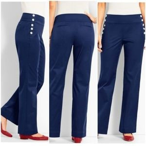 Talbots - Side Button Navy Blue Pants - 12p